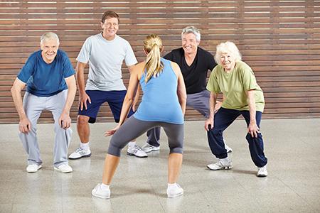 image of seniors doing exercise