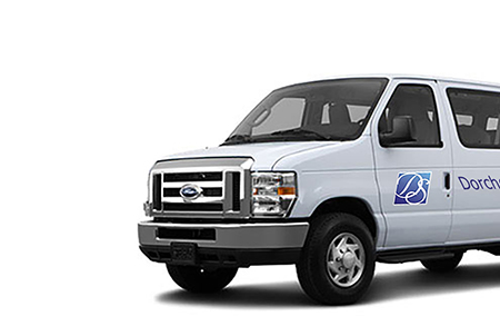 image of the van that offers transportation at the Dorchester Seniors Center in Summerville, SC
