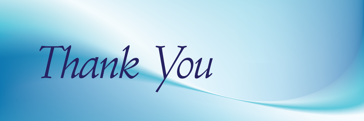 image of a thank you for those that participated in our auction